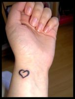 I heart my new tattoo by lolly890