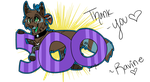 THE BIG 500!!!! by LittleRavine