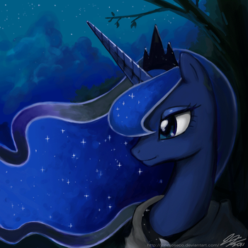 Luna on a Stroll by johnjoseco