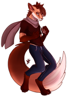Foxo Dude by Naughty-Savage