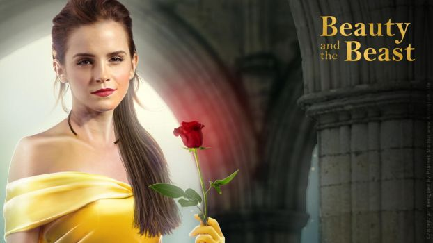 Emma Watson - Belle Wallpaper 03 by AxteleraRay-Core