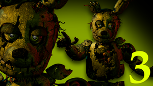 C4D|Test|FNAF 3 Icon Light Test by YinyangGio1987