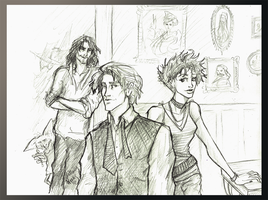Remus Tonks and Sirius by HILLYMINNE