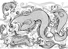 Attempt at the Chinese Fish by orioncreatives
