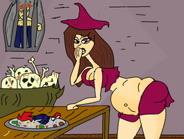 vore witch 21 by girlsbellystuffed