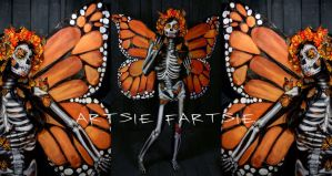 Monarch of mexico full body paint by ARTSIE-FARTSIE-PAINT