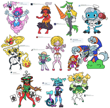 Character Design Prompts (February 2017) by Shenaniganza