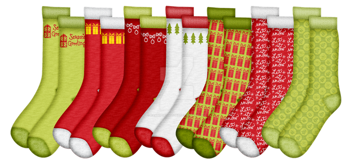Christmas Socks Set 2 by KandiiPopzDezignz