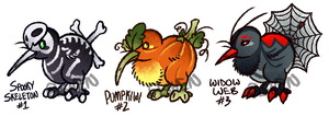 (CLOSED) October Special: Halloween Kiwiks by AshenSpectre