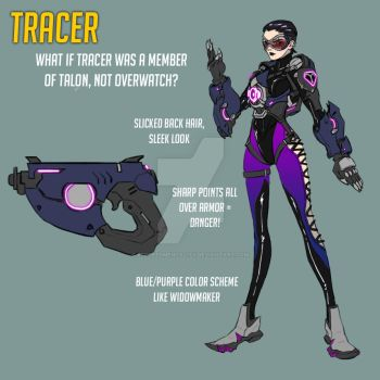 Overwatch Fan Skin: Talon Tracer by effektdmentality