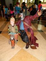 Star-Lord and Groot Zenkaikon 2017 by bumac