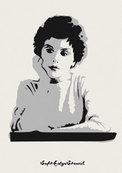 Audrey Horne by SoftEdgeStencil