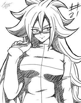 Android #21 Sketch by SaitoKun-EXE