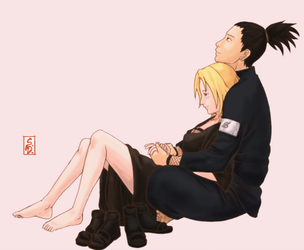 Shikamaru and Temari by sharingandevil