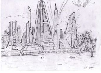 Riverbank skyline by Spectrumancer