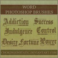 word brushes by chokingonstatic