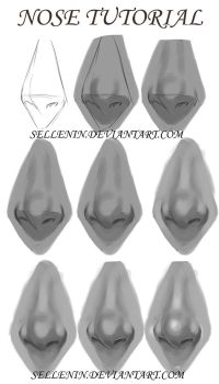 Grayscale nose tutorial by Sellenin
