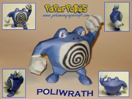 Poliwrath Papercraft by Skeleman