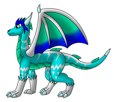 Iggy The Ice Dragoness by LightningTDragon