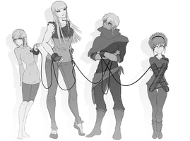 Original Characters Sketch - Updated by FlyingPings