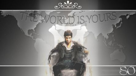 Scarface Tony Montana The World Is Yours By Sodesgn On DeviantArt