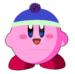 Kirby wearing Keith's Hat(art gift) by AmazingNascar221