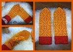 Kari's yellow Selbu mittens by KnitLizzy