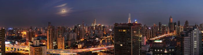 Puxi, Shanghai Panorama by smokinjay