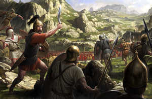 Viriato against the Romans by wraithdt