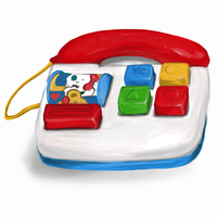 Fisherprice telephone toy by Maybellez