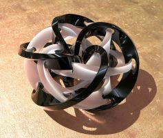 16 To 12 Torus Knot Strip Octane1 by davidbrinnen