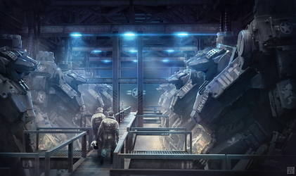 War Tech Mech Hangar by Andrew-Lim