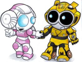 wee bee and arcee by prisonsuit-rabbitman