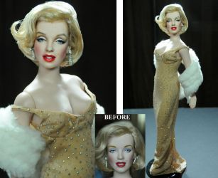 Marilyn Monroe doll - custom repaint by Noel Cruz by noeling