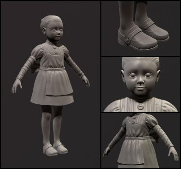 Little girl (Zbrush) by Keiaqua