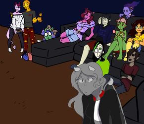 Movies (monster prom Collab) by AcrylicDolls