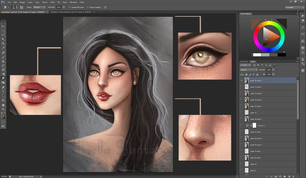 Practice of Painting - Training face by MirellaSantana