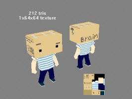 low poly boxhead by kinyz