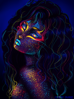 Neon Lioness by Emi-images