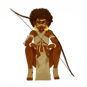 African Archer  by ydartistry
