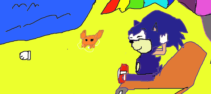 sonic  is  joy  the  peach by Chrisb1001