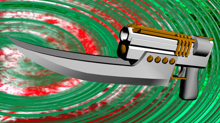 Viper Gun Knife by CatofManyFaces