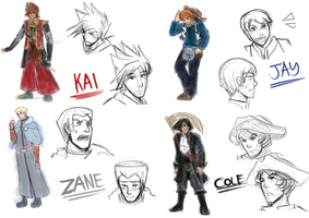 Ninjago: Destined Character Sheets I by witch-girl-pilar