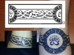 Sablehawk's armband tattoo by one-rook