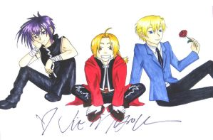 Ed, Dark and Tamaki by MangaX3me