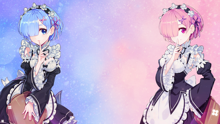 Rem and Ram Wallpaper [1920x1080] Full HD by FlappyFalcon