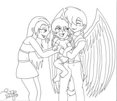 Roy, Moon and their daughter by 12liza12