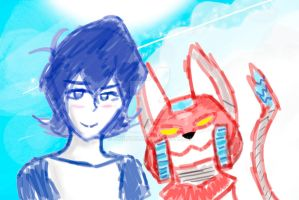 Keithy Boi and Mecha Red Space Nyan by Kyrifian