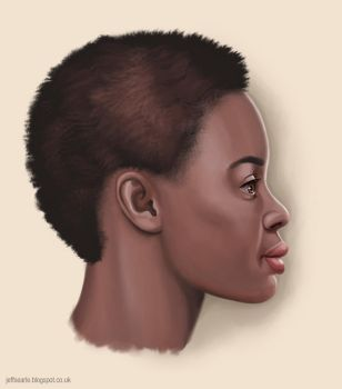 Woman profile by JeffSearle