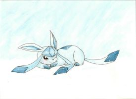 Glaceon Watercolor by nin10do-gamer